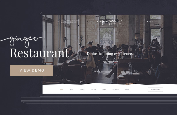 Ginger: Restaurant WordPress Theme