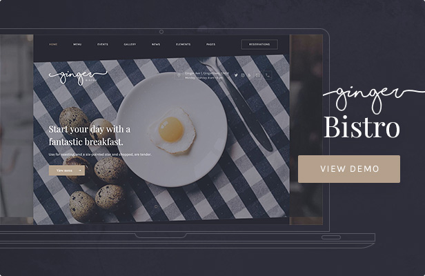 Ginger: Bistro WordPress Theme
