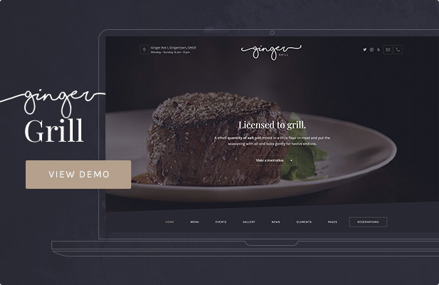 Ginger: Grill WordPress Theme