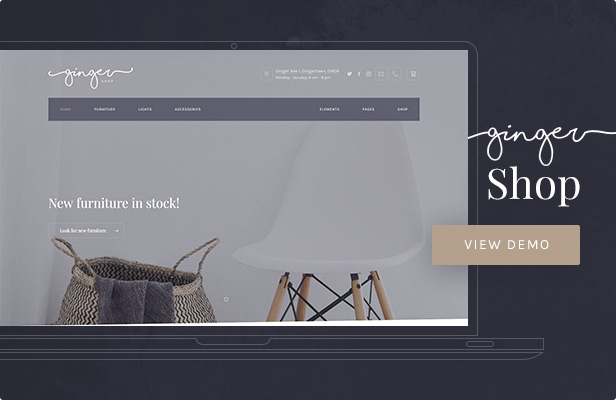 Ginger: Shop WordPress Theme
