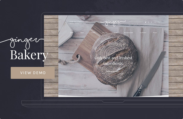 Ginger: Bakery WordPress Theme