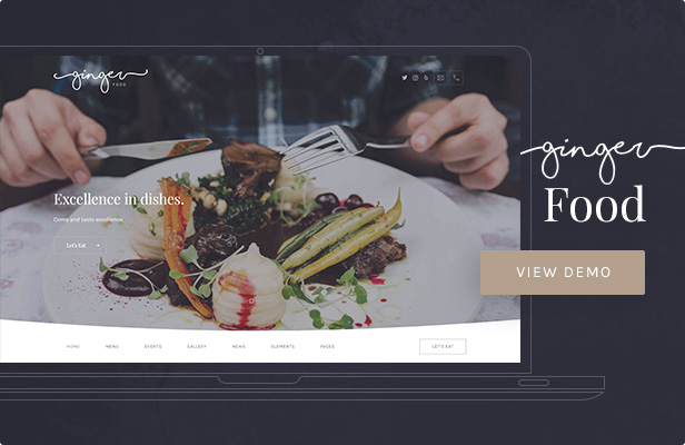 Ginger: Food WordPress Theme