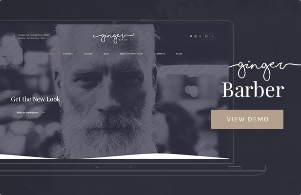 Ginger: Barbershop WordPress Theme