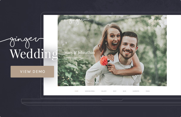 Ginger: Wedding WordPress Theme