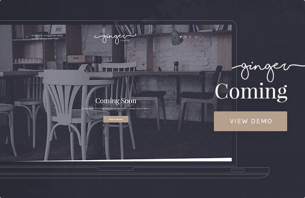 Ginger: Coming WordPress Theme